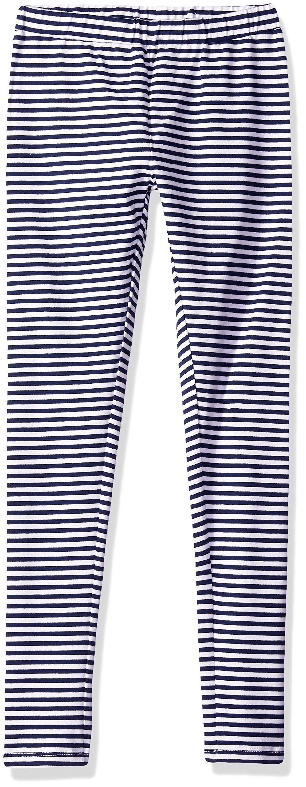 Scout + Ro Big Girls' Striped Jersey Legging, Flag Blue, 10
