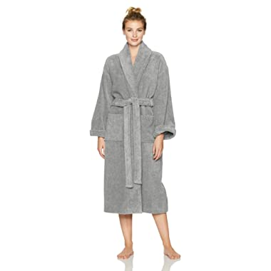 Pinzon Terry Cotton Bathrobe, Platinum, Large/X-Large