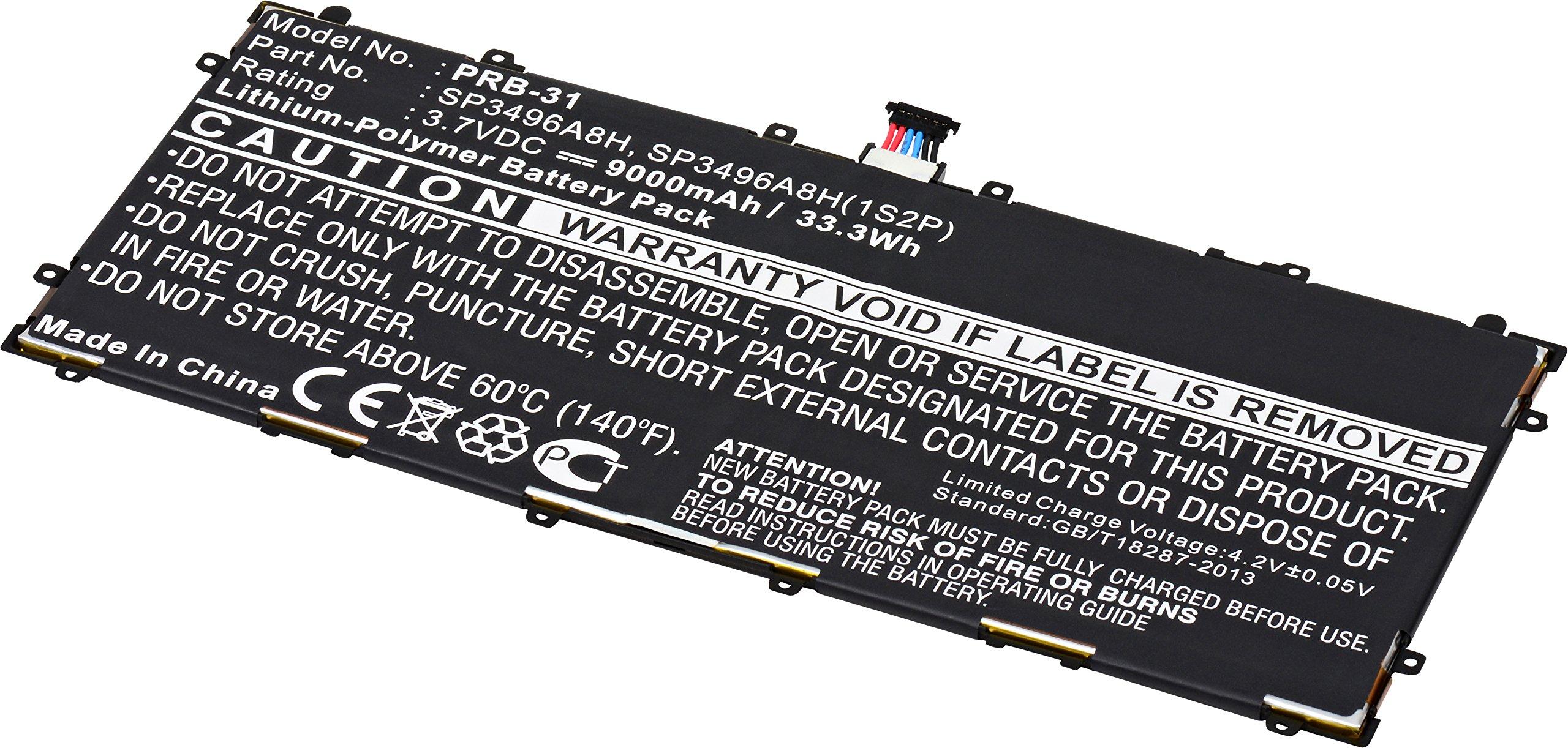 Tablet Dantona PRB-31 Lithium, Lithium Polymer (Li-Po) Battery 3.7 Volts