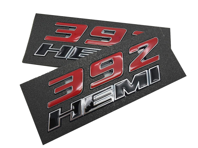 Amazon com 392 hemi emblem badge 3d hemi decal sticker replacement for dodge challenger srt 6 4l srt8 jeep pack of 2 automotive