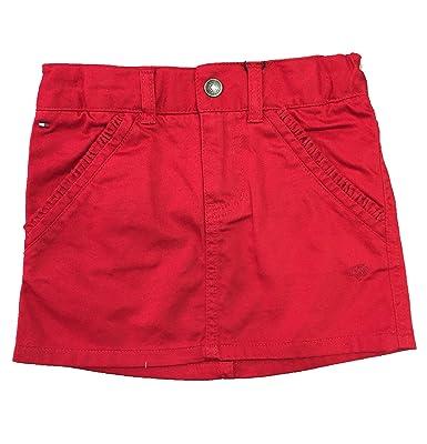 Tommy Hilfiger Falda roja niña, Talla 3 años: Amazon.es: Ropa y ...