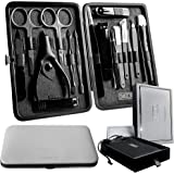 Swizor Pedicure and Manicure Set - Luxury Fingernail & Toenail Grooming Kit for Men & Women - Professional Nail Care Essentia