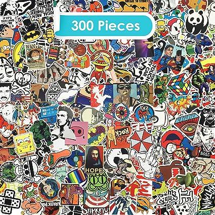 Zelbuck Paquete de Pegatinas 300-Pcs Kit de Impermeable Pegatinas ...