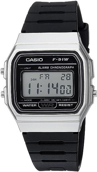 Casio reloj clásico de cuarzo informal para hombre, de resina y acero inoxidable