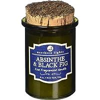 Northern Lights Candles 52603 Absinthe & Black Fig Fragranced Candle, 5 oz, Olive