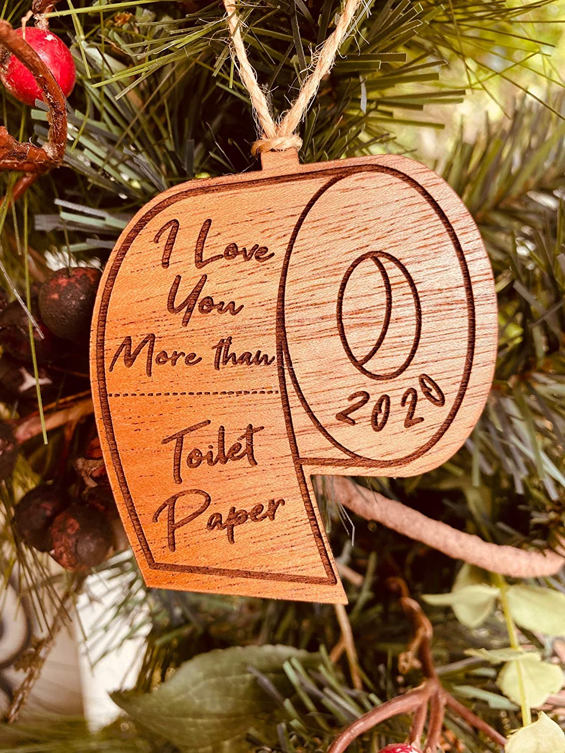 2020 Toilet Roll Paper Christmas Tree Decoration Ornament