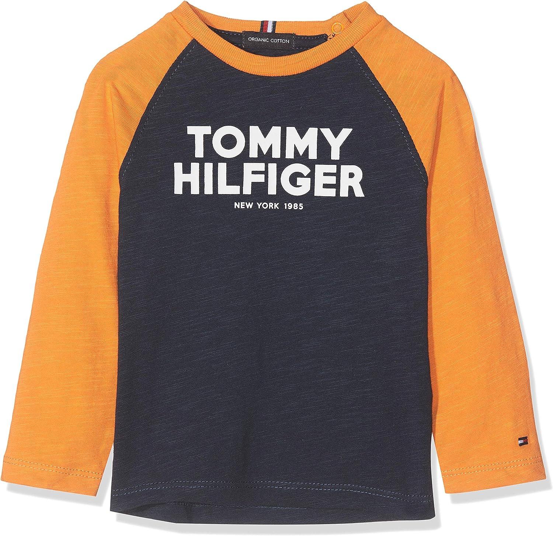 Tommy Hilfiger Baby Boys Color Block Raglan Tee L//S Blouse