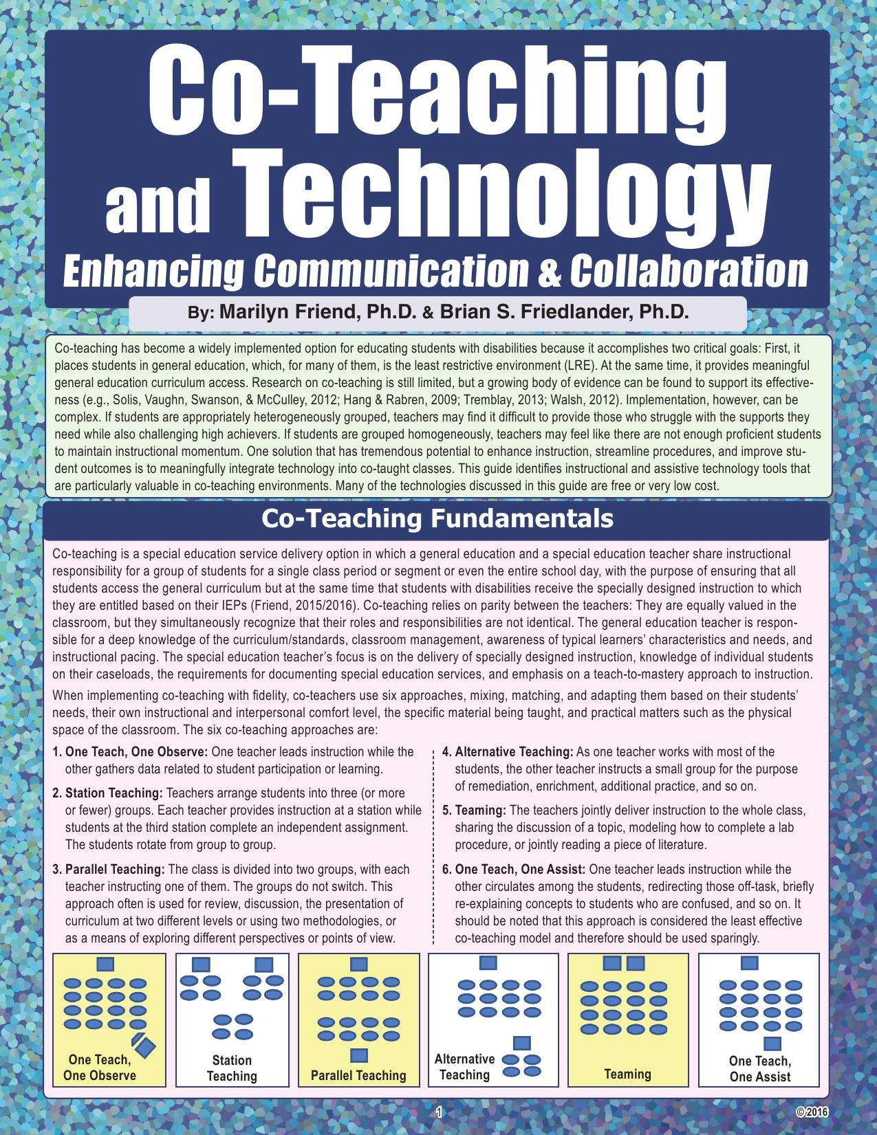 Co-teaching and Technology: Enhancing Communication & Collaboration PDF