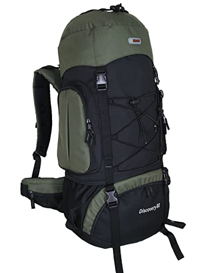 79ca853b34da HBAG Discovery 80L 5400ci Internal Frame Camping Hiking Backpack (Dark  Green)