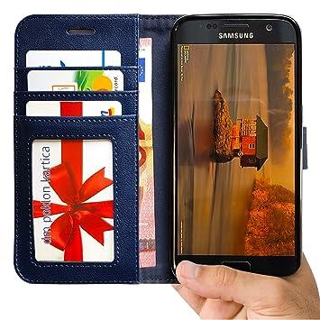 diversifié dans l'emballage en présentant meilleur grossiste Abacus24-7 Galaxy S7 Coque, Galaxy S7 Etui Portefeuille en Cuir écologique  avec Poches pour Carte d'identité ou Bancaire - Samsung Galaxy S7 Coque, ...