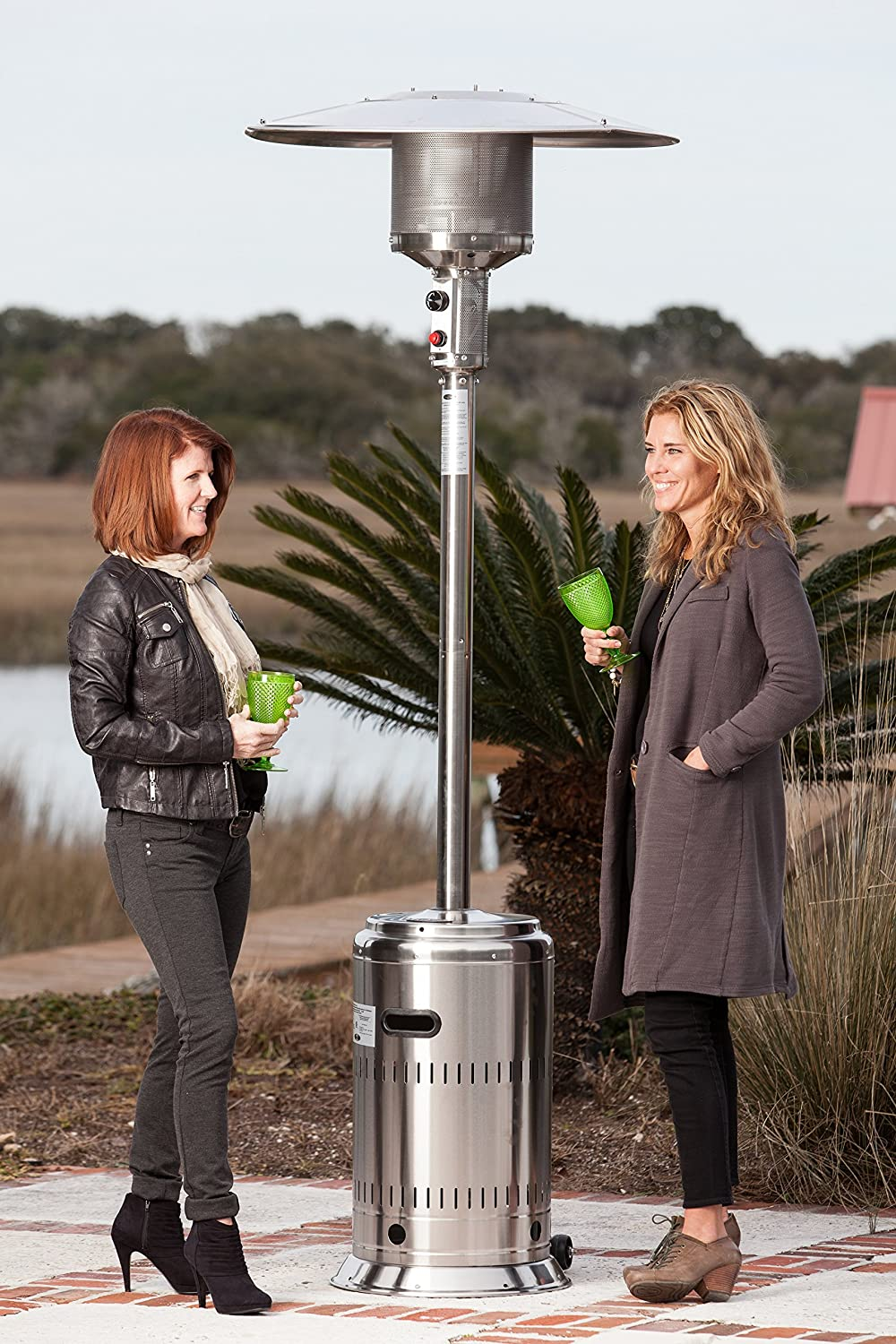 Amazon.com : Fire Sense Commercial Patio Heater, Unpainted Stainless Steel  : Portable Outdoor Heating : Garden U0026 Outdoor