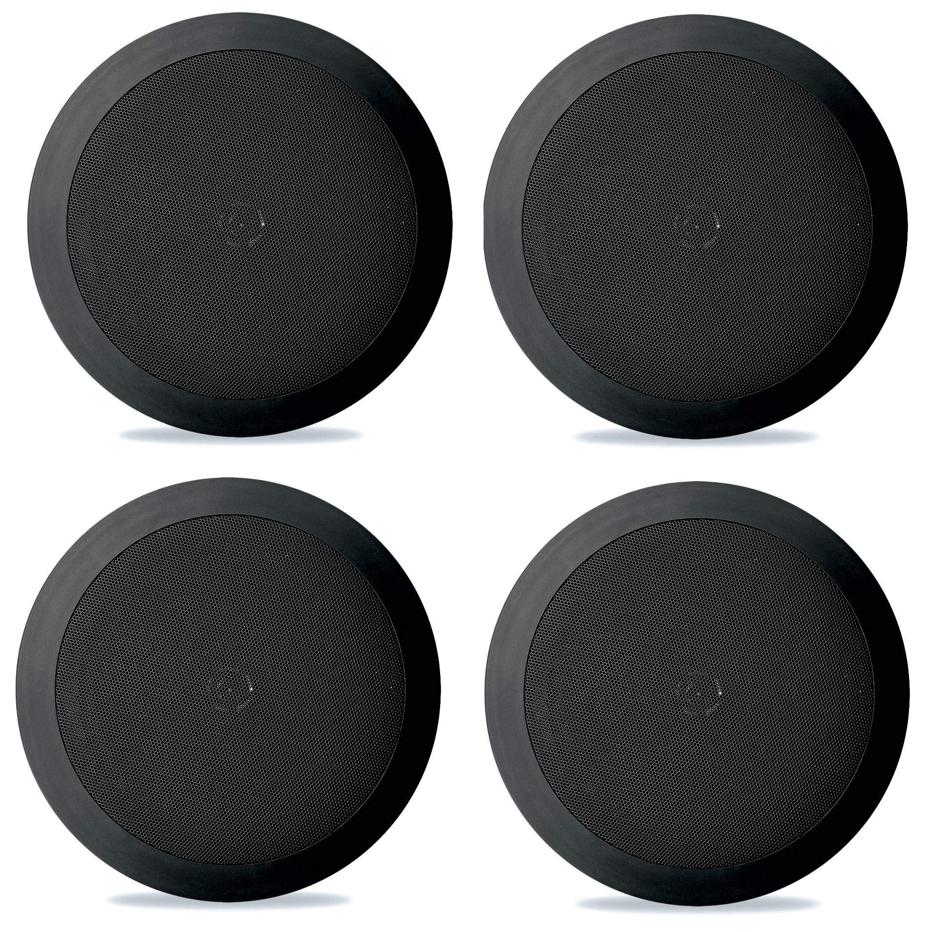 4) NEW Pyle PDIC51RDBK 5.25 Inch 150 Watt Black In-Ceiling Flush Speakers Four by Pyle