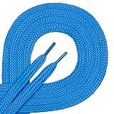 Di Ficchiano 1 Paar Qualitäts-Schnürsenkel aus Polyester - reißfest - flach - ca. 7,0 mm breit, 27 Farben, 60 - 200 cm Länge