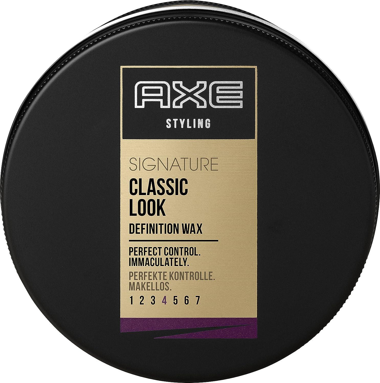 Axe Haarstyling Haarwachs für Männer Classic Look Signature, 6er Pack (6 x 75 ml) 8710908277696