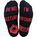 'Do Not Disturb, I'm Watching Wrestling' Funny Ankle Socks - Great Birthday Christmas Gift For Wrestling Fans