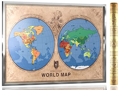 Amazon scratch off world map poster it is not just the map scratch off world map poster it is not just the map it is travel gumiabroncs Images