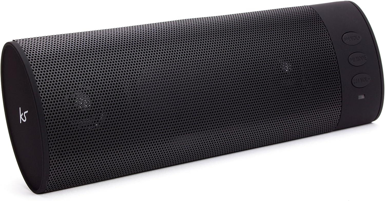 Kitsound Boombar Universal Tragbares Aufladbares Stereo Bluetooth Wireless Soundsystem Kompatibel Mit Apple Ios Und Android Smartphones Tablets Und Mp3 Geräten Schwarz Heimkino Tv Video