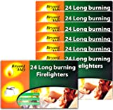 6 X Packs of 24 Bryant & May Long Burning Easy to Use Firelighters & Tigerbox Safety Matches