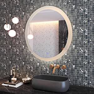 Bathroom Mirror with LED lighting and Touch switchWall Mirror-Praga K02