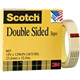 Scotch Double Sided Strong Tape, 1 x 1296 Inches, Boxed (665)