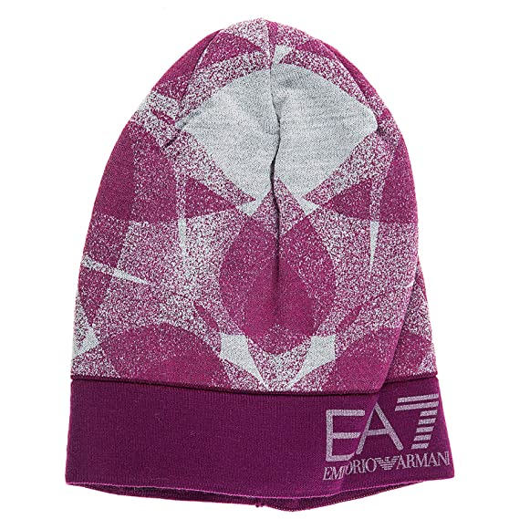 Emporio Armani EA7 women s beanie hat train graphic fucsia UK size S 285440  7A393 00194 6db4fdab671
