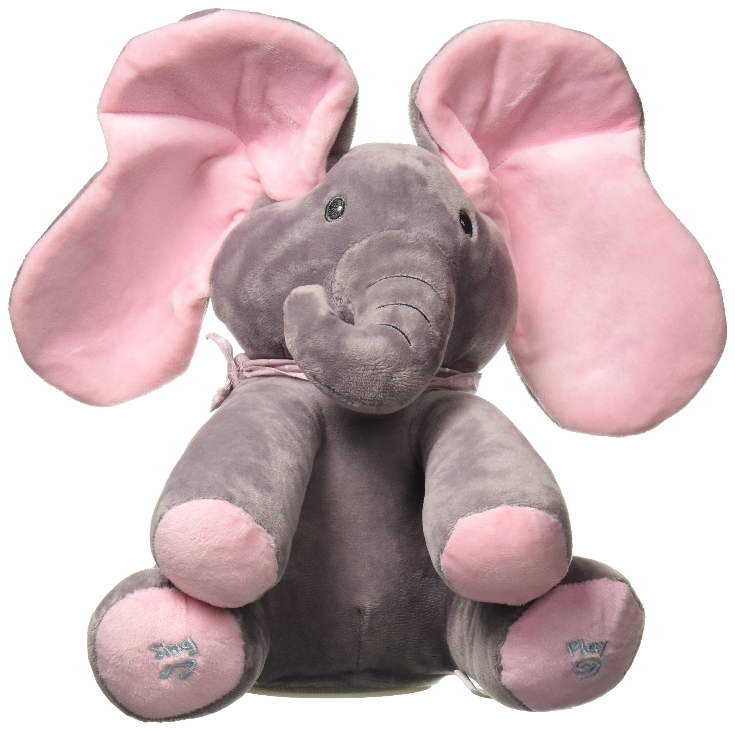Emily Elephant Animated Plush Singing Elephant with Peek-a-boo Interactive Feature by Dimple by Dimple