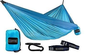 double hammock   15 loop 9 ft adjustable suspension straps   lightweight 210t nylon hammock   amazon    double hammock   15 loop 9 ft adjustable suspension      rh   amazon