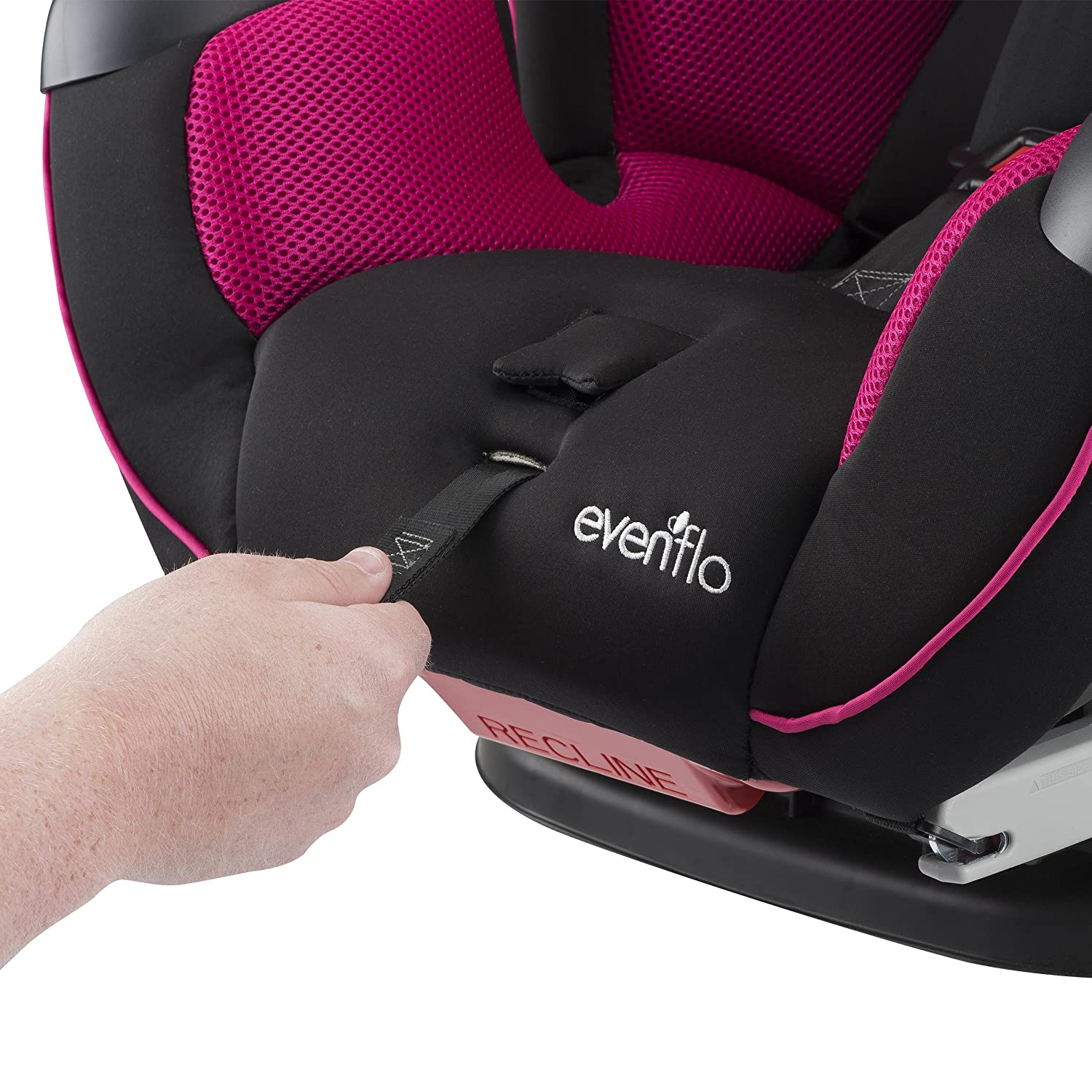Evenflo Symphony Elite All-in-One Convertible Car Seat Raspberry Sorbet