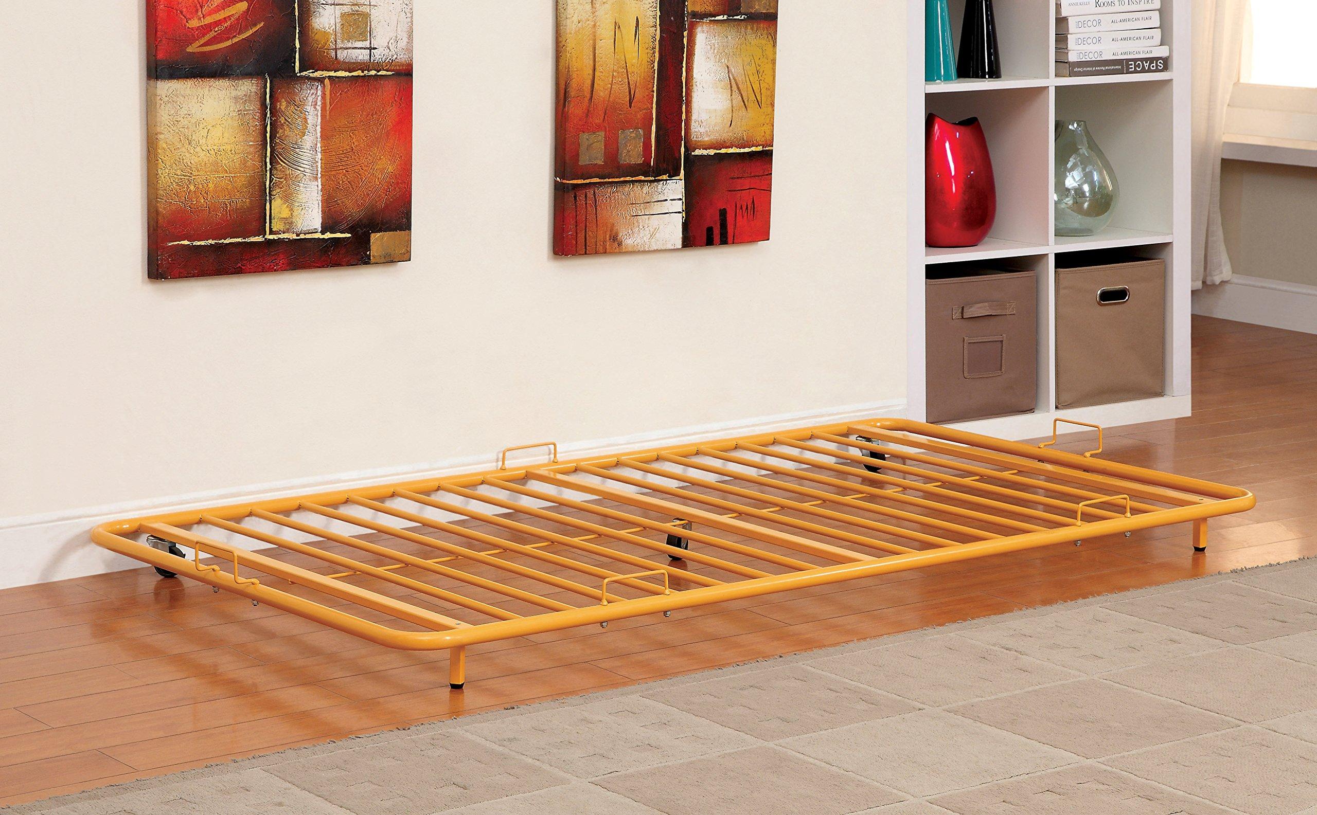 Furniture of America Newton Metal Twin Trundle, Orange