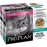 PRO PLAN Nutrisavour Delicate Cat Food Ocean Fish 4x10x85g (40 Pouches)