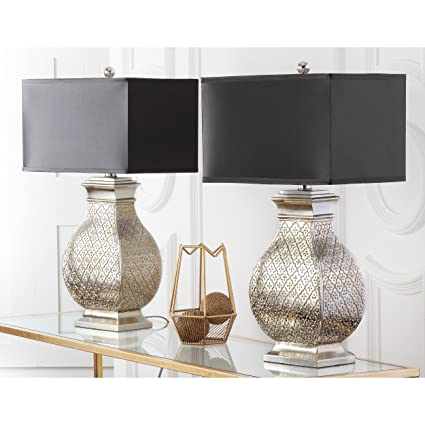 Beau Safavieh Lighting Collection Malaga Silver 30 Inch Table Lamp (Set Of 2)