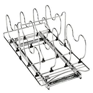 Lynk Professional Roll Out Cookware Organizer – Pull Out Under Cabinet Sliding Rack - Chrome
