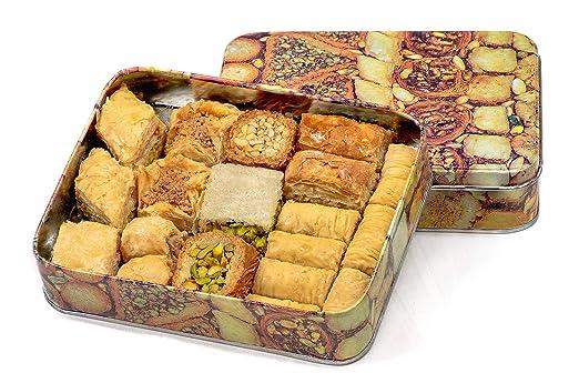 Baclava Caja de lata de Baklava, Prime, 500 gramos, mezcla variada de Baklava