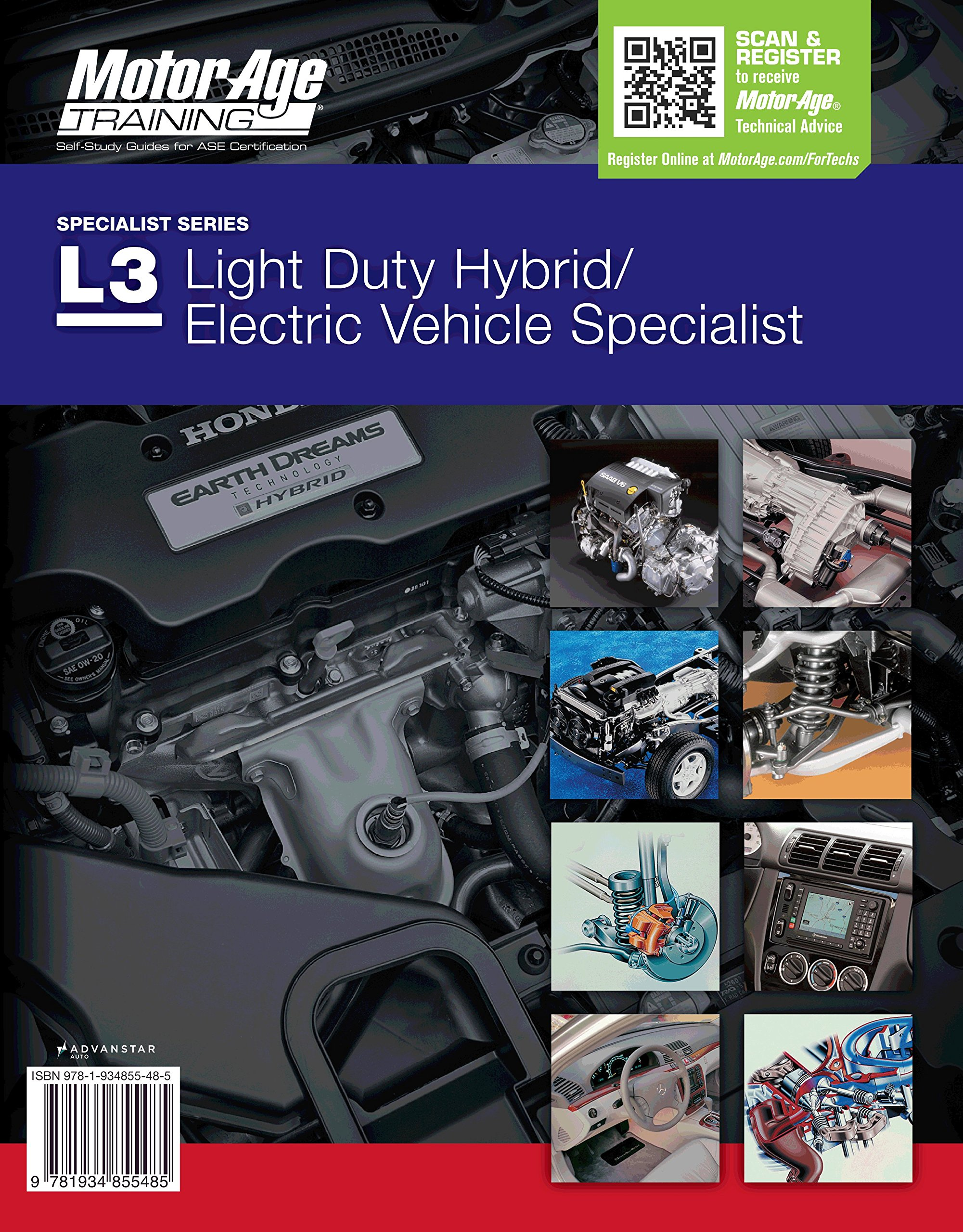 Ase test prep l3 hybridelectric vehicle specialist ase test prep l3 hybridelectric vehicle specialist certification test prep study guide motor age training motor age staff 9781934855492 amazon xflitez Gallery