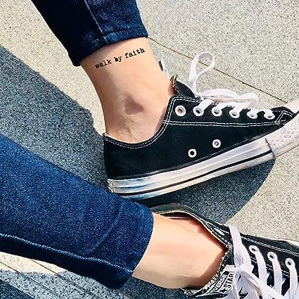Tatuaje Temporal de Caminar por fe (2 Piezas) - www.ohmytat.com ...