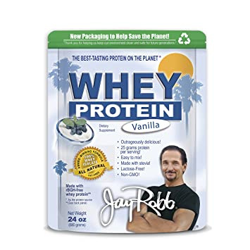 Jay Robb - Grass-Fed Whey Protein Isolate Powder, Outrageously Delicious, Vanilla, 23 Servings (24 oz)