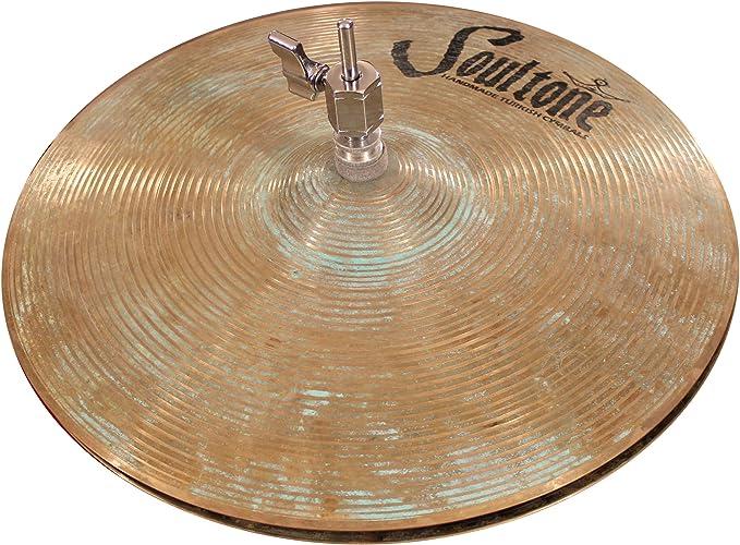 Soultone Cymbals VOSP-FLHHT14-14 Vintage Old School Patina Flat Hi Hats Pair