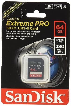 Sandisk Extreme Pro 64GB SDXC UHS-II Clase 3 Memoria Flash ...