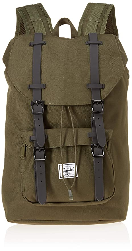 dd2231a82f0 Mochila Herschel Little America Mid-Volume Forest Night Black   Amazon.co.uk  Luggage