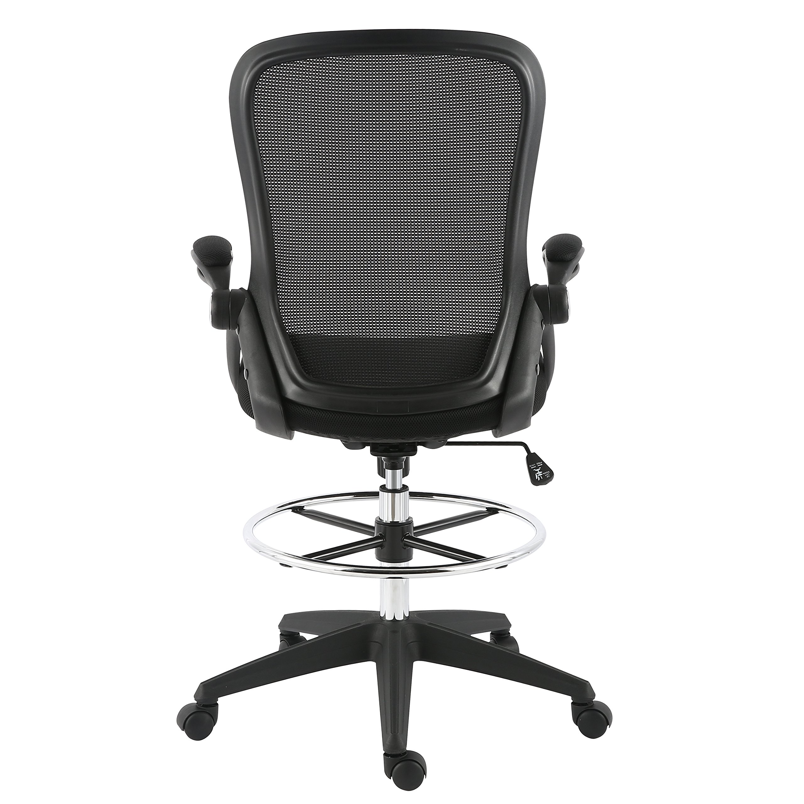 Poly and Bark Sadia Mesh Ergonomic Drafting Tall Office Chair Stool in Black by POLY & BARK (Image #5)