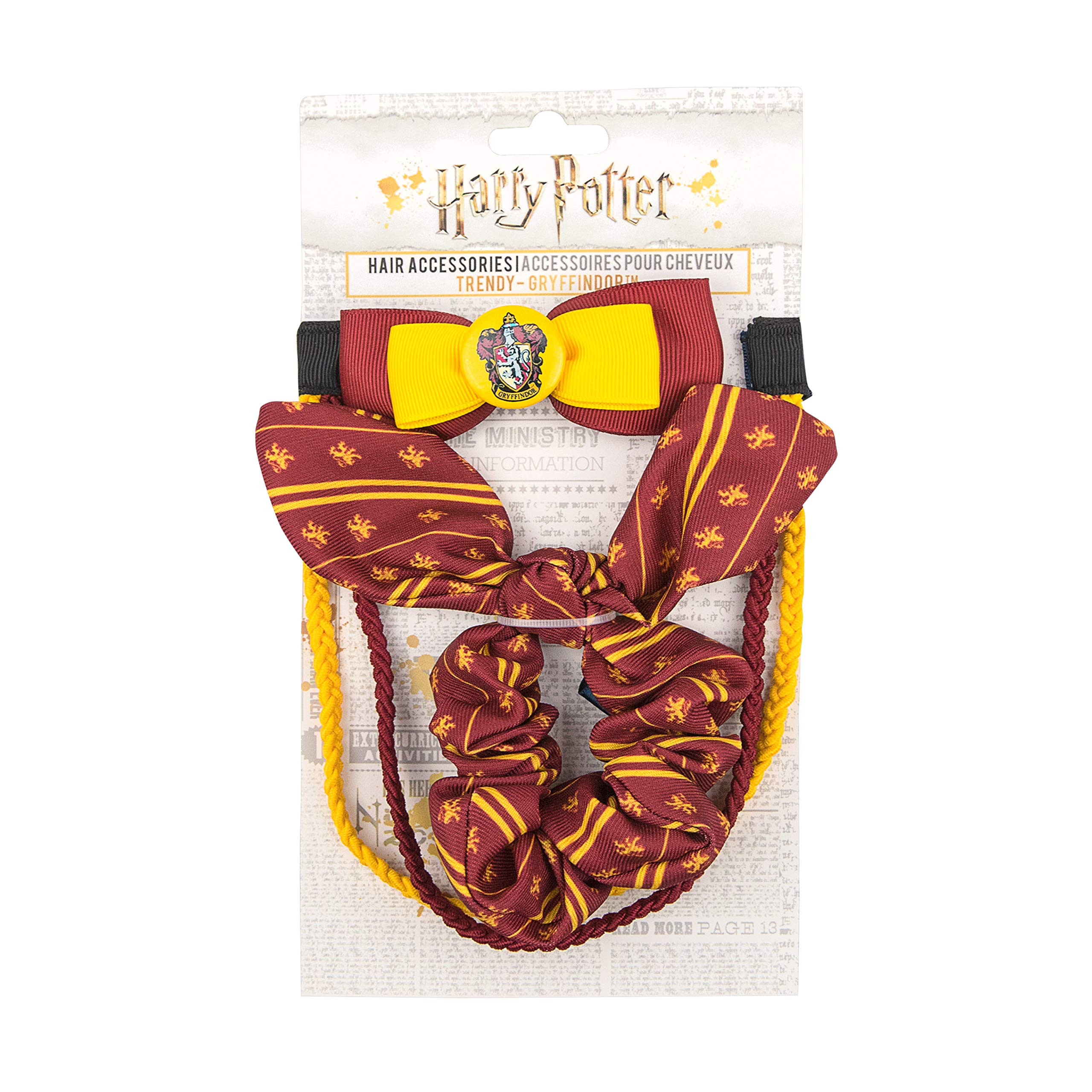 Harry Potter - Hair Accessories (Trendy (Bunny Ear, Clip, Double Headband), Gryffindor) by Cinereplicas