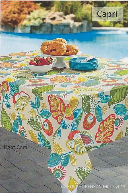 Amazon.com: Capri Spillproof Indoor Outdoor Tablecloth (70\