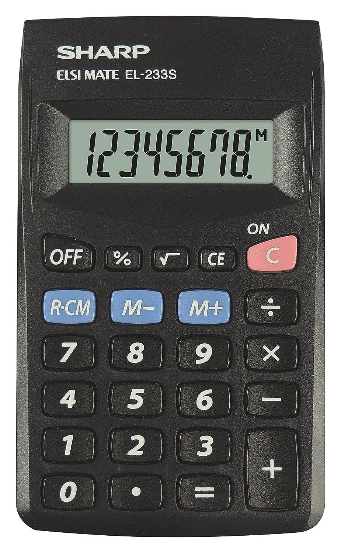Sharp El233SBBK Pocket Calculator - Black OfficeCentre