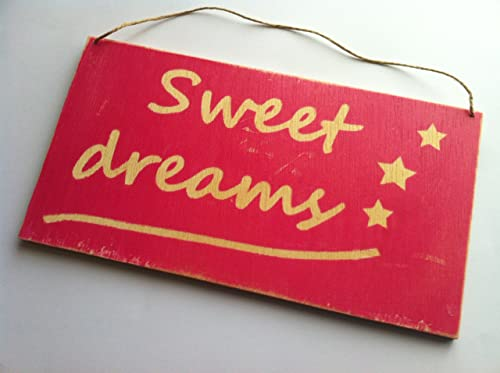 Sweet dreams cartel letrero de madera Personalizado: Amazon ...