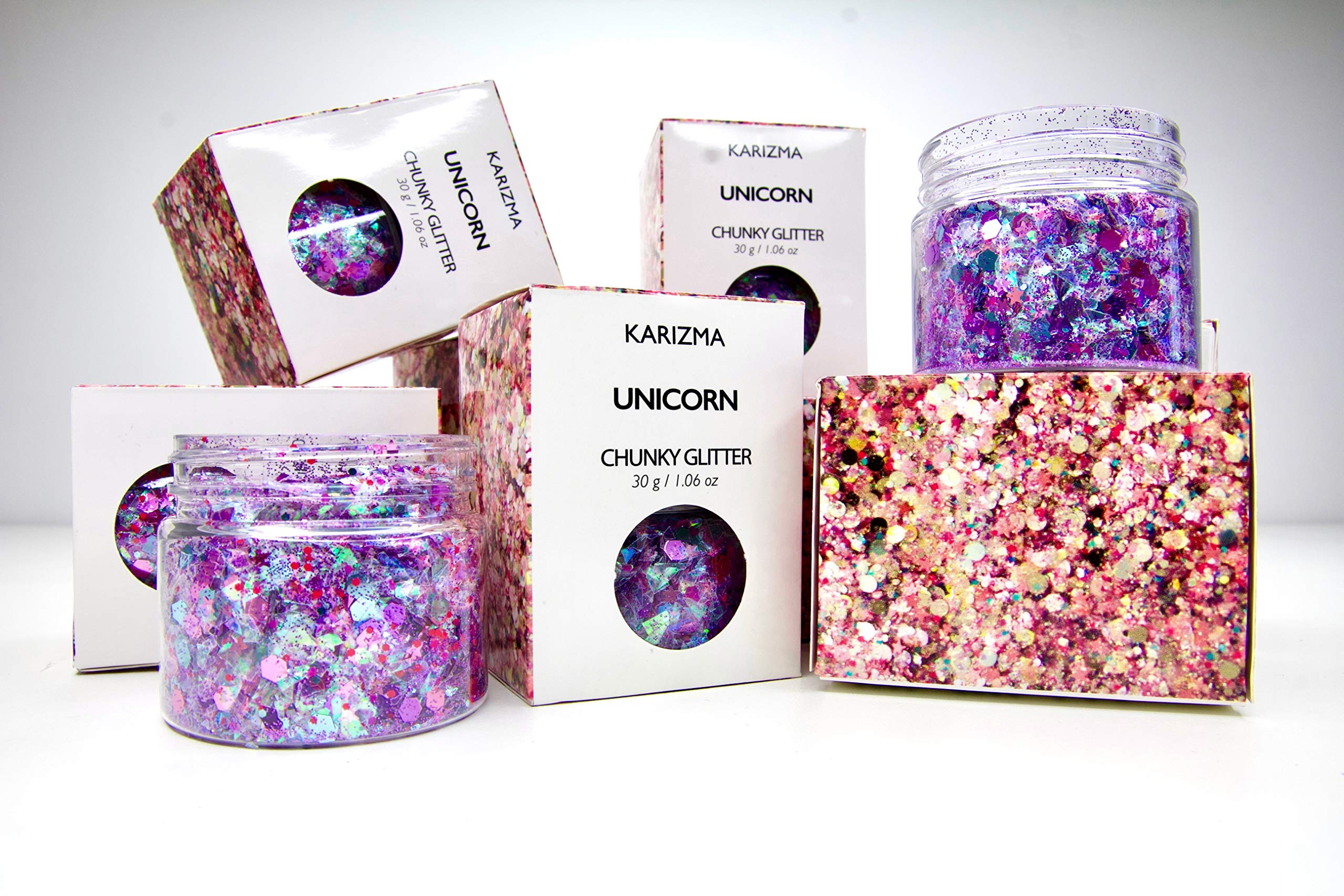 Unicorn Chunky Glitter ✮ Large 30g Jar COSMETIC GLITTER ✮ Festival Face Body Hair Nails by KARIZMA (Image #4)