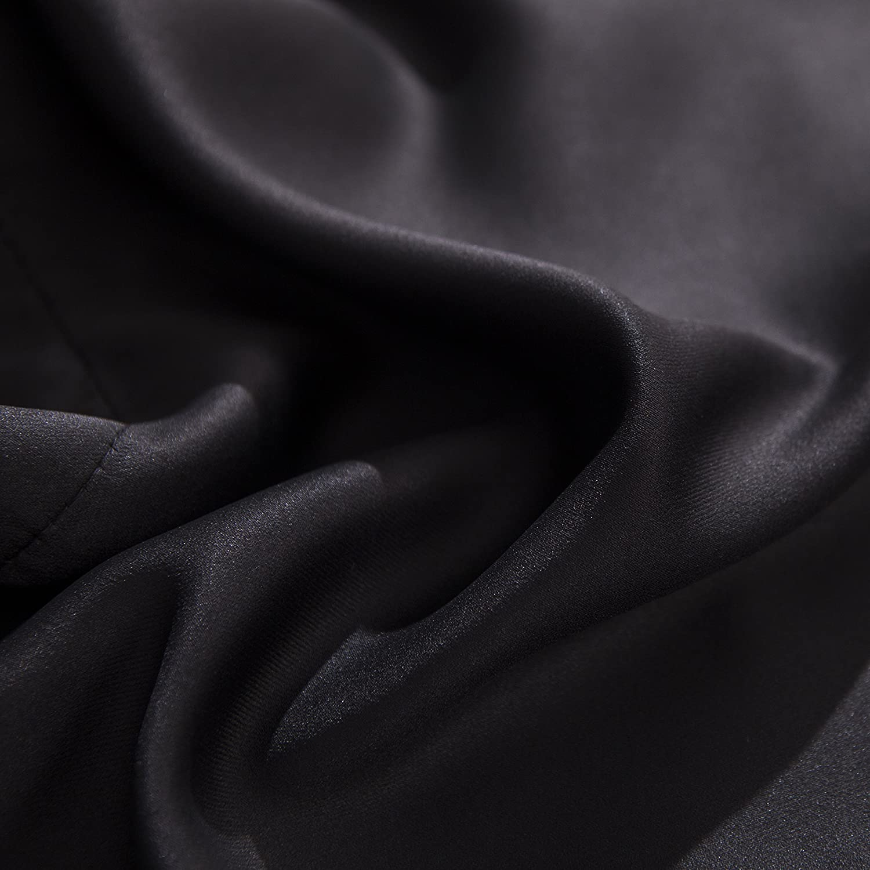 52 x 18 Valance 132cm x 45cm Aquazolax Isolamento Termico Tende oscuranti Solido Tessuto Nero 1 Pezzo Set