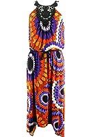 London Times Womens Sleeveless Asymmetrical Hem Dress Size 10 Regular Orange