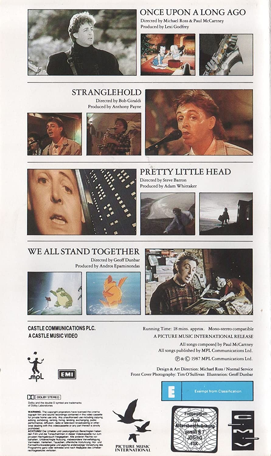 Paul McCartney - Once Upon A Video [VHS] [1987]: Amazon.co.uk: DVD ...