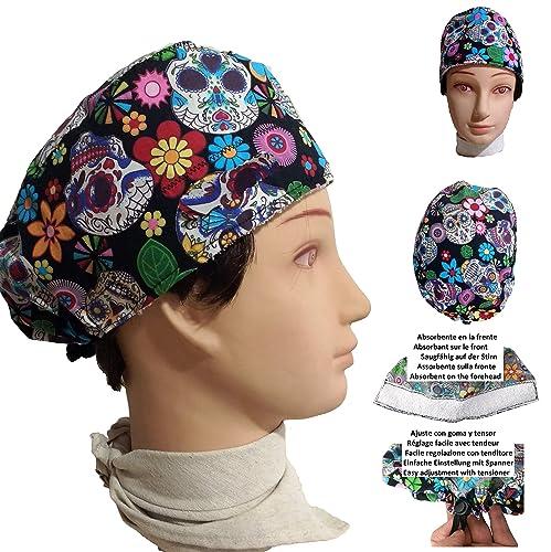 Cappello chirurgico. Teschi MEJICANAS. per i capelli corti. Donna. e ... 64bf4a424265