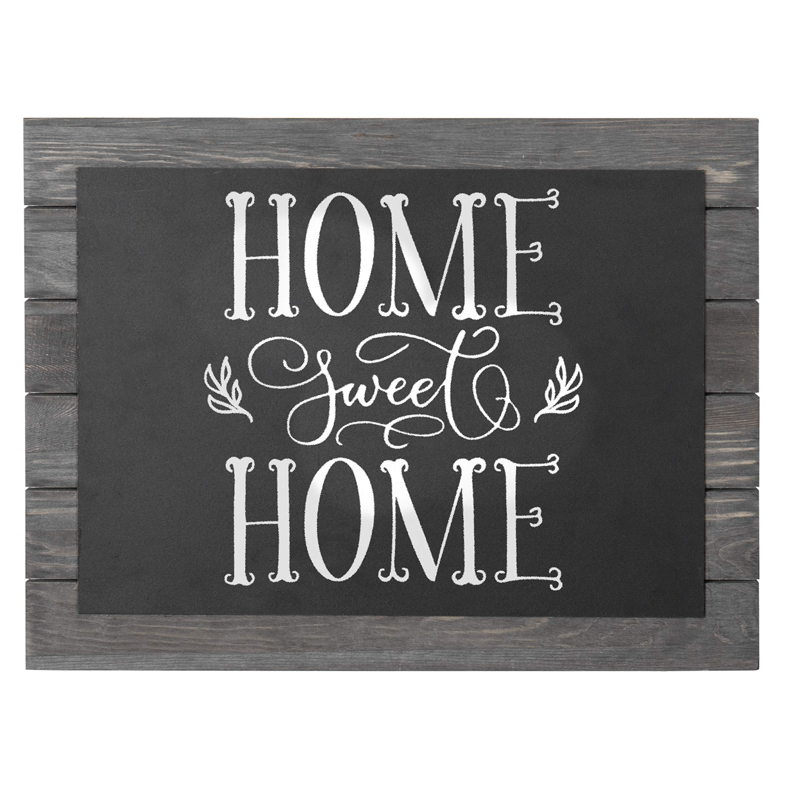 MyGift 16 x 12 Vintage Grey Wood Wall Mounted Framed Chalkboard Sign by MyGift
